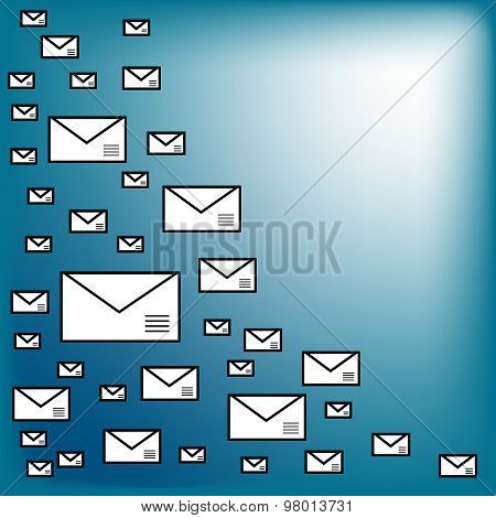 Envelopes Abstract Background