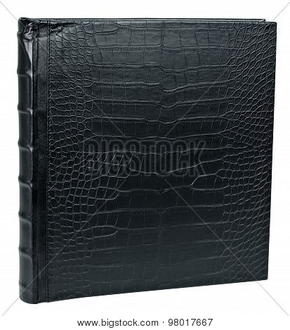 Black Leather Snake Photo Album Cover