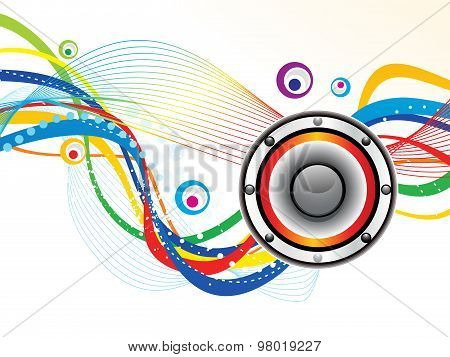 Abstract Artistic Sound Background