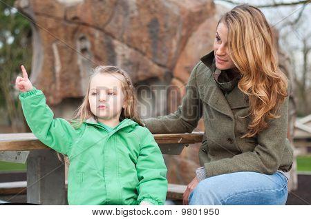 Pequena narrativa de menina para sua mãe