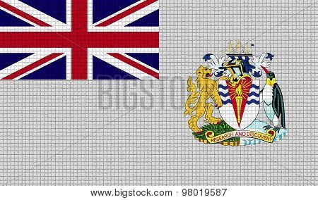 Flags British Antarctic Territory With Abstract Textures. Rasterized