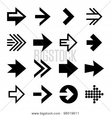Arrows Icon Set. Vector