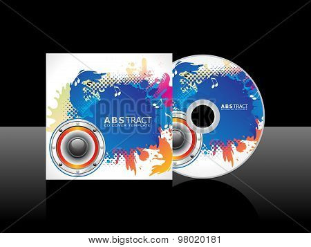 Abstract Colorful Artistic Music Cd