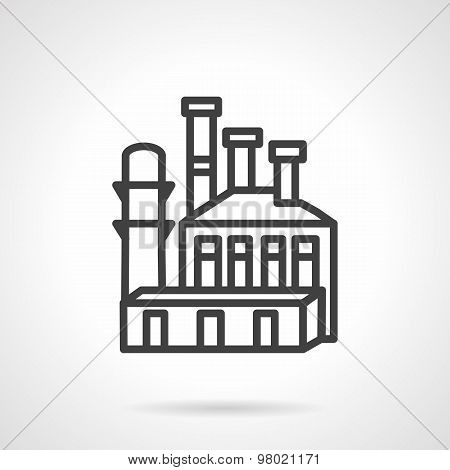 Metal industry plant vector icon
