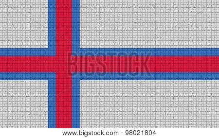 Flags Faroe Islands With Abstract Textures. Rasterized