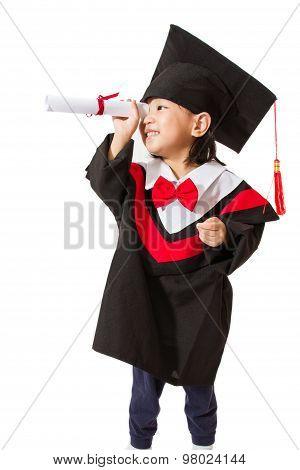 Asian Child Graduation