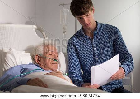 Patient Looking At Medical Records