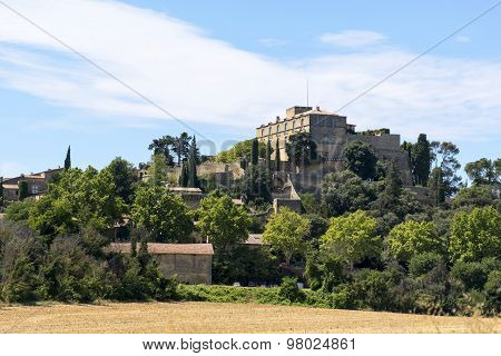 Historic Castle And Village On The Hill, Ansouis In South Of France