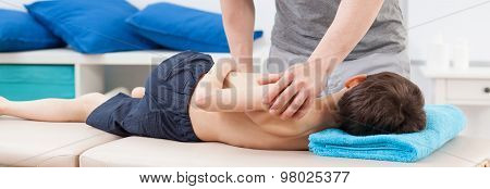 Physiotherapist Stretching Body