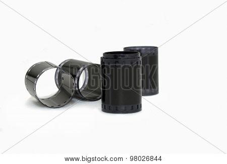Rolls of old negative film