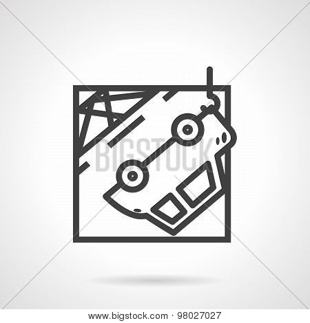 Abstract vector icon for car evacuation