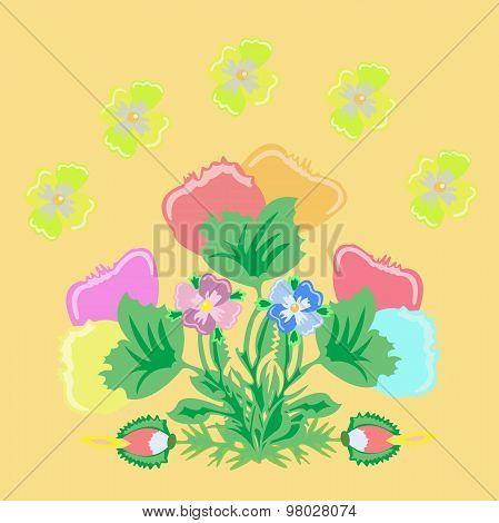 Bouquet Imaginary Flowers