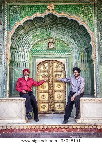 Sikhs In Jaipur City Palace