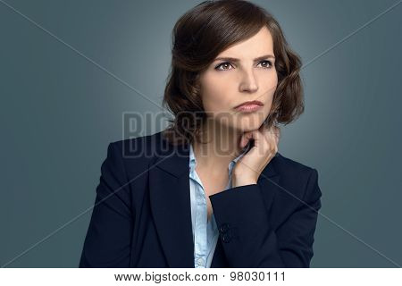 Attractive Pensive Woman Staring Into Space