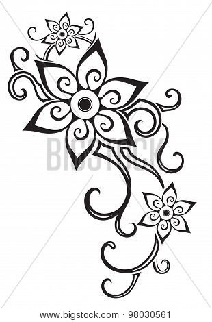 Abstract Composition Of The Ornaments In The Polynesian Style