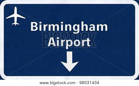 Birmingham England United Kingdom Airport Highway Sign