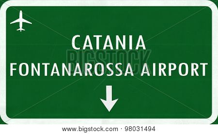 Catania Italy Airport Highway Sign
