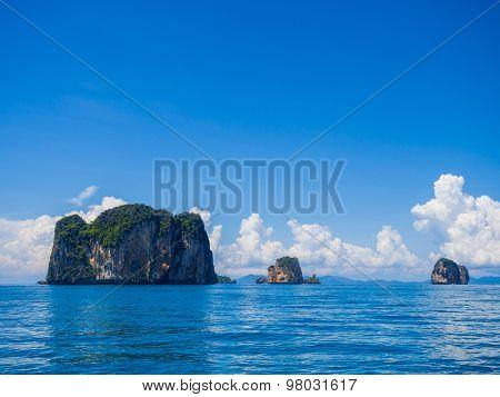 Railay beach in Krabi Thailand. Asia