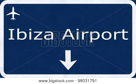 Ibiza Spain Airport Highway Sign