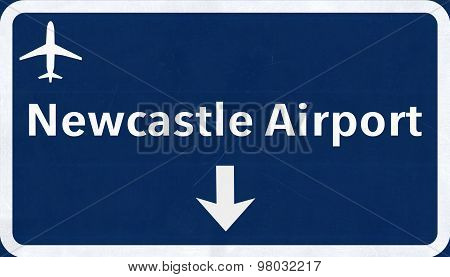 Newcastle England United Kingdom Airport Highway Sign