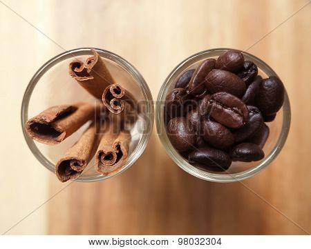 coffee bean and cinnamon