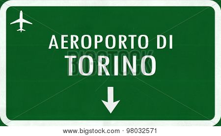 Torino Italy Airport Highway Sign