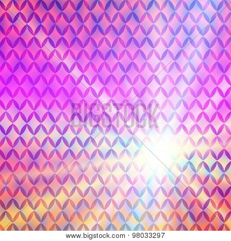 Bright Glowing Abstract Purple Background Gentle Sun Rises