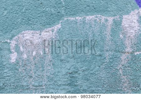 Blue Colored Damp Wall