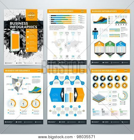 Infographics Vector Concept. Set Of Business Infographic Design Elements For Data Visualization
