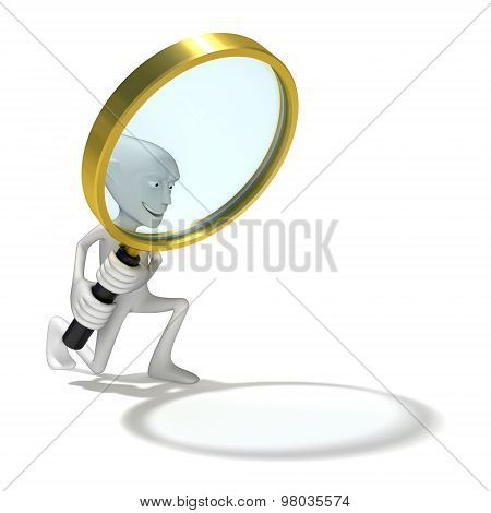 Human with Looking Glass