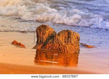 Stone On Sea Coast