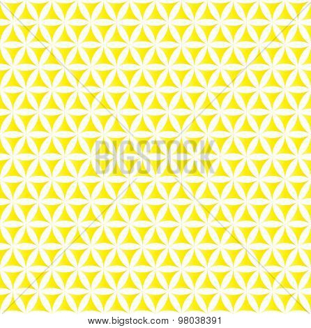 yellow flower of life sacred geometric seamless background