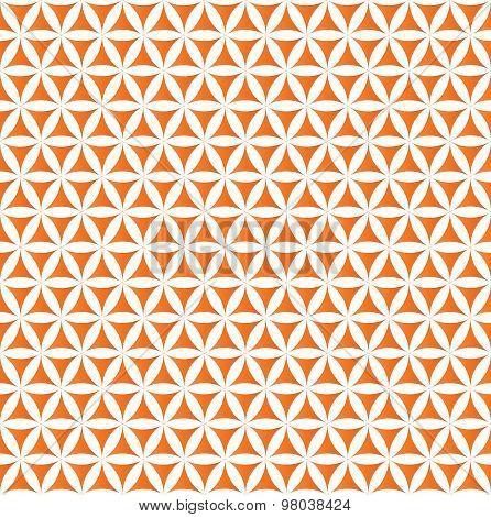 orange flower of life sacred geometric seamless background