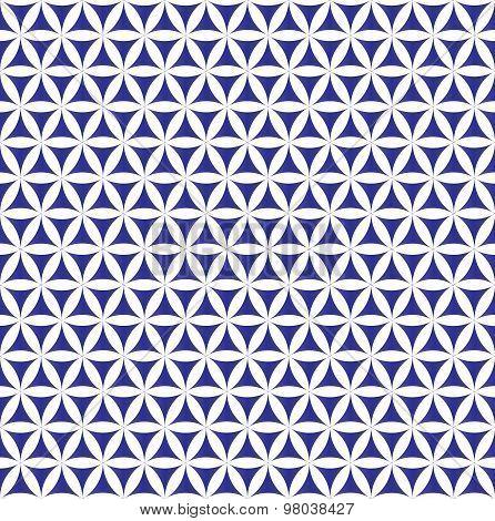indigo flower of life sacred geometric seamless background