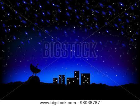 Night Sky City Scape