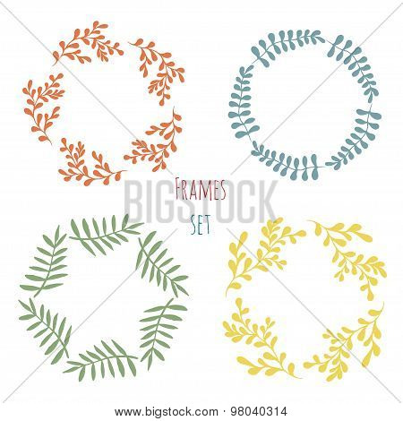 Cure floral frame set.  Vector design