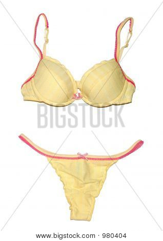 Yellow Women's Underwear