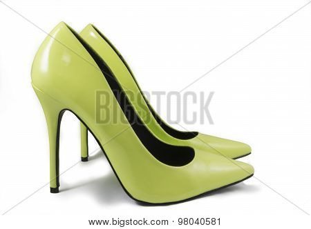 Lime Green High Heel Shoes