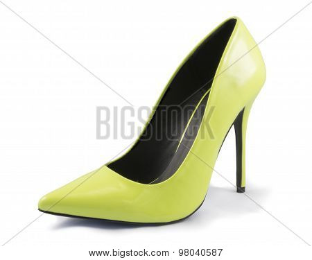 Lime Green High Heel Shoe