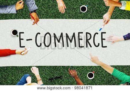 E-commerce Digital Marketing Networking Concept