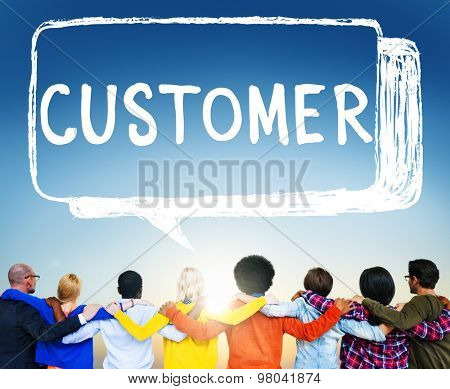 Customer Purchaser Satisfaction Consumer Service Concept