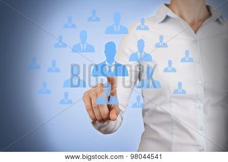 Human Resource Conceptual on Visual Screen
