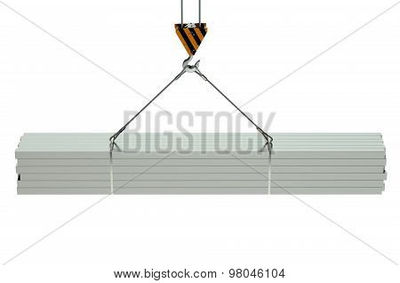 Crane Hook And Metal Square Bars