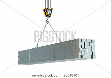 Crane Hook And Metal Square Rods