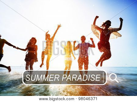 Summer Paradise Search Website Beach Concept