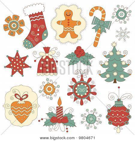 christmas symbols and elemnts