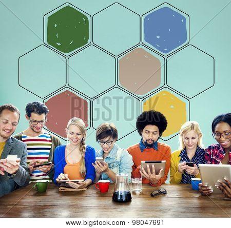 Bee Hive Honey Community Teamwork Concept