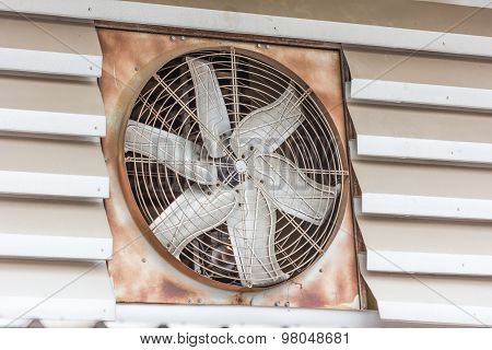 Old Dirty Ventilation Fan