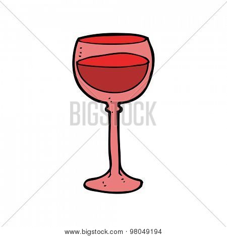 cartoon wine glass