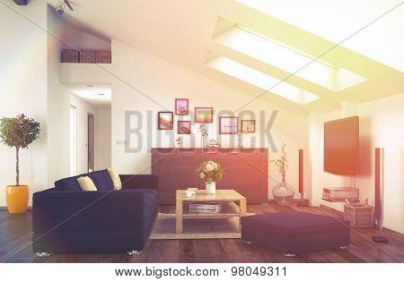 Loft - Living Room - Vintage Look